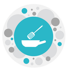 of kitchen symbol on skillet vector image