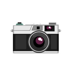 old rangefinder camera on a vector image
