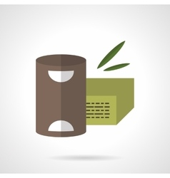 Organic food flat color design icon vector image