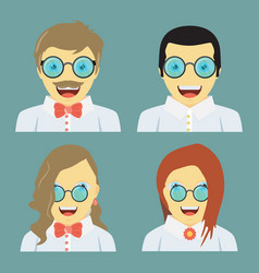 People is laughing fun concept set flat design vector