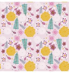 Pink floral pattern vector image