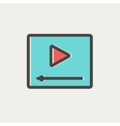 Play button with fast forward thin line icon vector image vector image