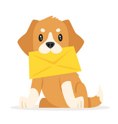 Postal dog puppy vector