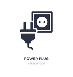 Power plug icon on white background simple vector