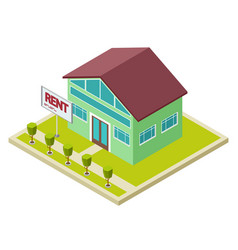 rent cottage or house isometric concept vector image