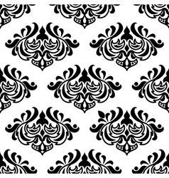 Seamless damask-style floral pattern vector