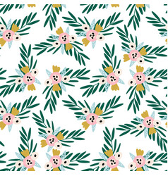 seamless floral pattern creative flower texture vector image