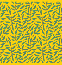 seamless light blue leaf pattern vector image