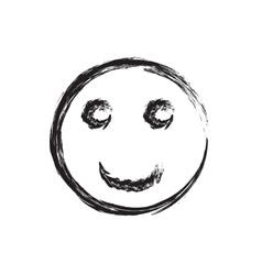 Smile face grunge icon symbol Emoji vector