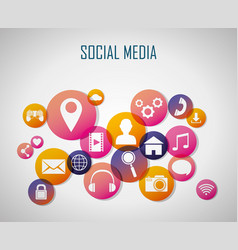 social media technology vector image