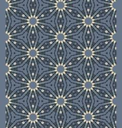 Steel grey naive daisy bloom seamless pattern vector