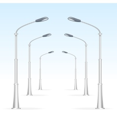 Street lanterns on a white background electricity vector
