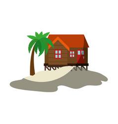 Summer house icon vector
