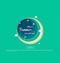 Summer sale colorful background vector