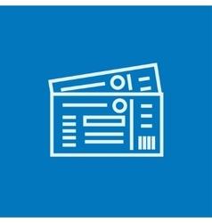 Tickets line icon vector image vector image