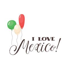 viva mexico wording vector image