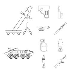weapon and gun logo vector image