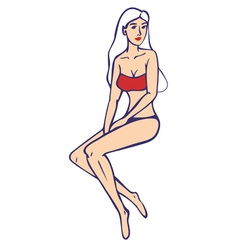 woman in a swimsuit vector image vector image