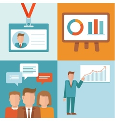 conference concepts in flat style vector image