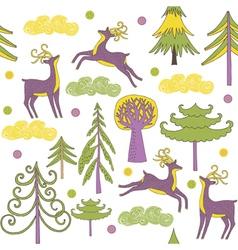 deer forest wallpaper vector image vector image