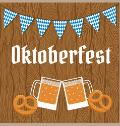 oktoberfest poster with bunting vector image
