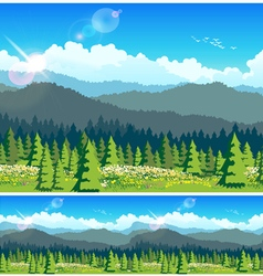 picturesque forest vector image vector image