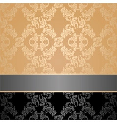 seamless pattern floral decorative background gray vector image