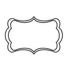 board decoration ornament design line vector image