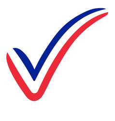 check mark france flag symbol elections voting vector image vector image