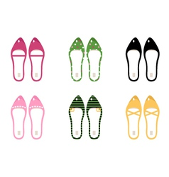 collection of retro shoes vector image