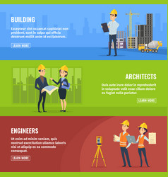 for banners of builders architects vector image