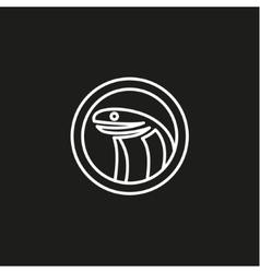linear style Cobra flat trend logo vector image