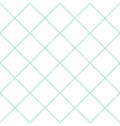 Mint Green Grid White Diamond Background vector image