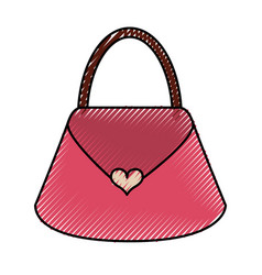 scribble purse cartoon vector image