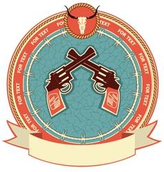 Western symbol background vector