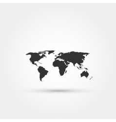 World map icon Flat design style Template fo vector image