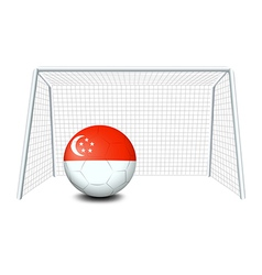 A soccer ball with the flag of Singapore vector image vector image