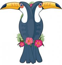 animal alphabet toucan vector image vector image