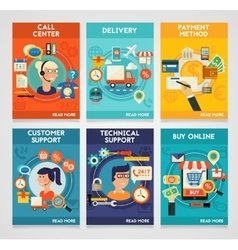 Customer and Technical Support Call Center Buy vector image