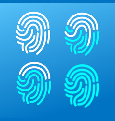 finger print icons set vector image vector image