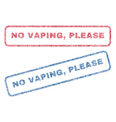 no vaping please textile stamps vector image vector image