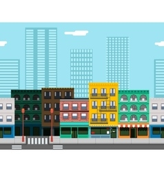 Seamless City Street Concept Flat Design Town vector image vector image