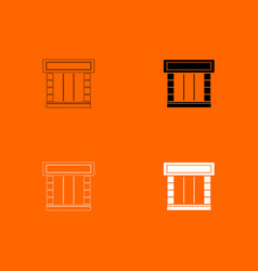 shopfront icon vector image vector image