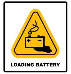 Warning battery charging sign vector image vector image