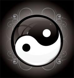 yin yang glossy vector image