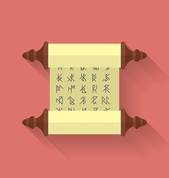 Ancient scroll or parchment with runes icon Flat vector image vector image