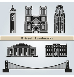 Bristol landmarks and monuments vector image vector image