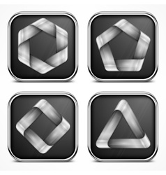 Design elements on dark vector image vector image