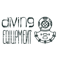 design logo diving equipment vector image vector image