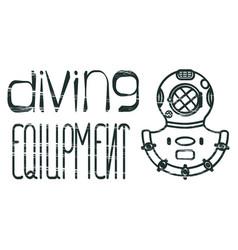 Design logo diving equipment vector